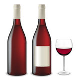 Red Wine Set. Stock Images