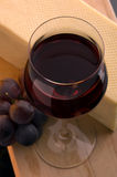 Red wine shot Stock Image
