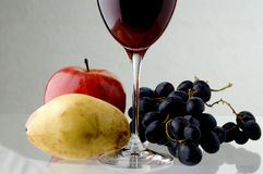 Red wine shot Royalty Free Stock Photos
