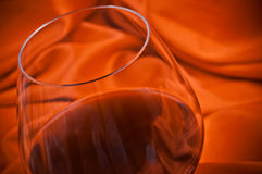 Red wine and silk Stock Photos