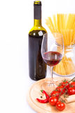 Red wine and spaghetti Royalty Free Stock Photography