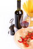 Red wine and spaghetti Royalty Free Stock Photos