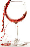 A red wine splash Stock Image