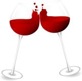 Red wine splash Royalty Free Stock Images