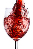 Red wine splash Stock Photography