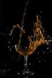 Red wine splash Royalty Free Stock Image