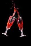 Red wine splash Stock Photo