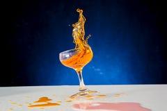 Red wine splash Stock Image