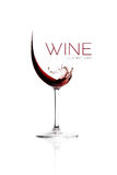 Red Wine. Splash Design Royalty Free Stock Photography