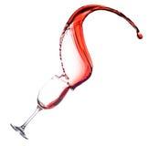 Red Wine Splash in glass Stock Photo