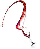Red Wine Splash in glass Royalty Free Stock Images