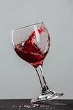 Red wine splash Stock Photos