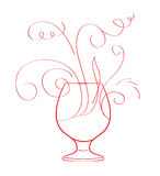 Red wine splash isolated Royalty Free Stock Photos