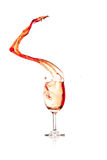 Red Wine Splash with isolated background Royalty Free Stock Photo
