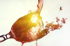 Red wine splash isolated on white Stock Photography