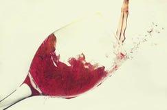 Red wine splash isolated on white Stock Photo