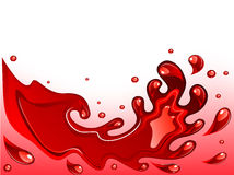 Red wine splash Royalty Free Stock Images