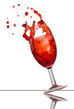 Red wine splash Royalty Free Stock Photo