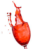 Red wine splash Stock Photos