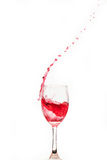Red wine splash Royalty Free Stock Photos