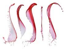 Red wine splashes Stock Image