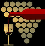 Red Wine Splashing Royalty Free Stock Images