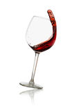 Red wine splashing Royalty Free Stock Photography