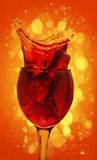 Red wine splashing out Royalty Free Stock Images