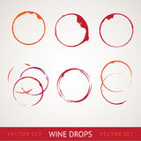 Red wine stain. Over gray background. Vector Illustration, eps 10, contains transparencies Royalty Free Stock Photos
