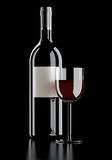 Red wine still life Fade to black Royalty Free Stock Photo