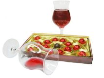 Red wine and sweetmeats Stock Image