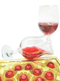Red wine and sweetmeats Stock Photos