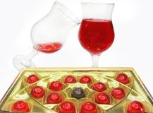 Red wine and sweetmeats Royalty Free Stock Photo