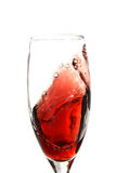 Red Wine Swirl. Ing in glass stock photo