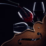 Red wine symphony Stock Photo