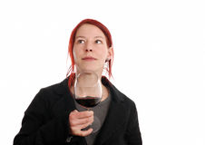 Red wine tasting Stock Images