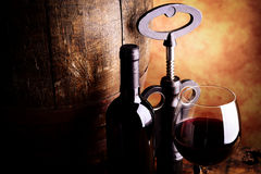 Red wine tasting royalty free stock photo