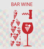 Red wine and tasting card Royalty Free Stock Photo