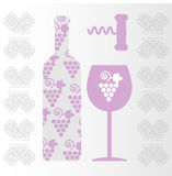 Red wine and tasting card Stock Photos