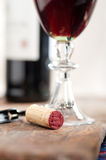 Red wine tasting Stock Image