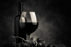 Red wine tasting cream tone style image. Red wine tasting - cream tone style image royalty free stock photos
