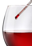 Red wine temperature Royalty Free Stock Photography