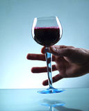 Red wine toast Royalty Free Stock Photos