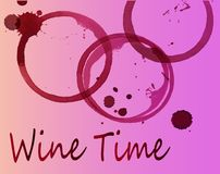 Red wine traces of watercolor. Traces of red wine. Alcoholic beverage - idea for a logo Royalty Free Stock Photography