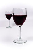 Red Wine in two glasses Stock Photo