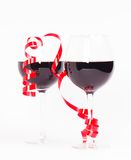 Red wine valentine Royalty Free Stock Photography