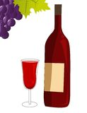 Red wine vector Stock Photos