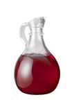 Red Wine Vinegar (with clipping path). Isolated on a white background. Isolation is on a transparent layer in the PNG format stock photo