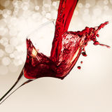 Red wine on vintage background Royalty Free Stock Images