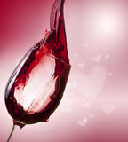 Red wine on vintage background Stock Images